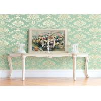 Quality High End Flower Feature Wall Wallpaper Fireproof With European Style for sale