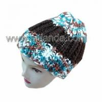 fancy yarn hat ice wool hat