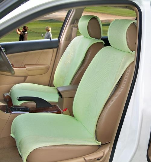 green suede car seat cushion for sale 15291602. Black Bedroom Furniture Sets. Home Design Ideas