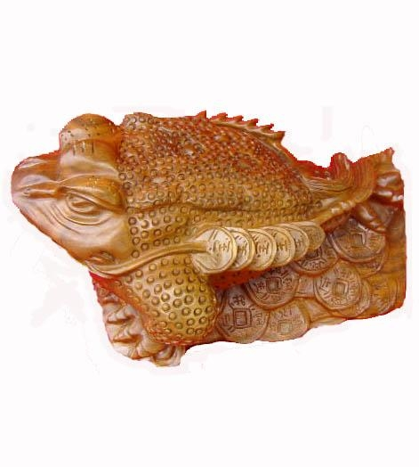 Buy Wooden Handicraft Woodcarving Fortune toad at wholesale prices