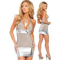 China Champagne Mini Halter Triangle Top Dress,DL2089 on sale