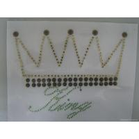 Quality iron on copper nailhead with rhinestone for sale