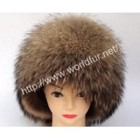 China Raccoon Fur Hat HZ-004 on sale