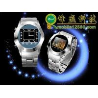 W968 Tri-Band Stainless Steel FM Radio Watch Cell