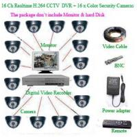 Quality CCTV PRODUCTS 16Ch Realtime H.264 Network CCTV DVR+ 16 x Color dome Security Camera for sale