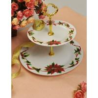 P68210193 3pcs decaled cake plate