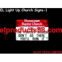 China EL Light Up Church Signs ( HNR 0207 ) HNR 0207 on sale
