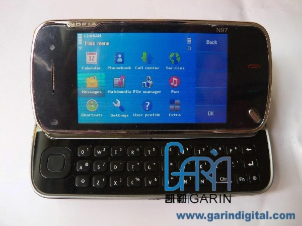 China N97 1:1 Quad band hand shaking with QWERTY Keyboard mobile phone