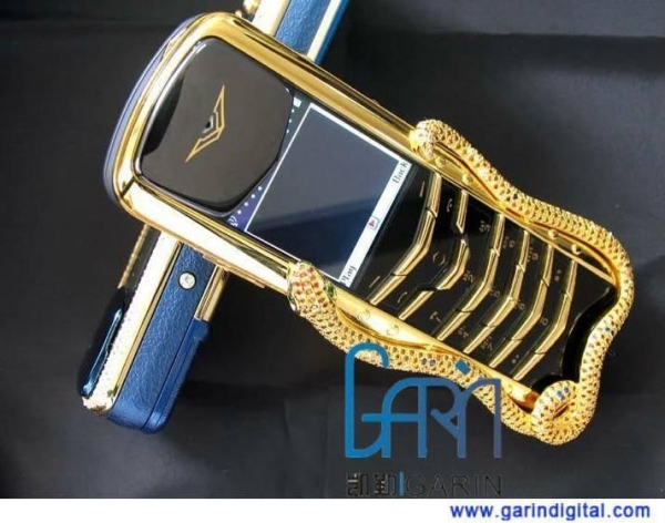 China Limited edition Signature Cobra gold luxury mobile phone, golden snake, gold