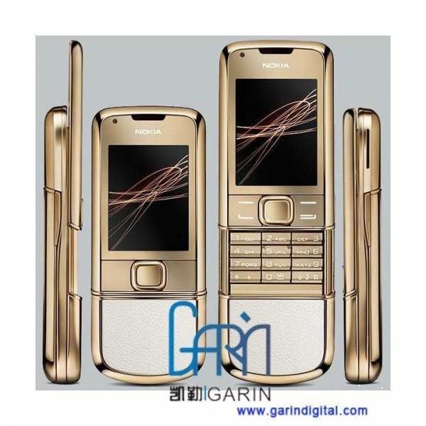 China 8800 Gold Arte with White Leather Cover GSM Quad band mobile phone