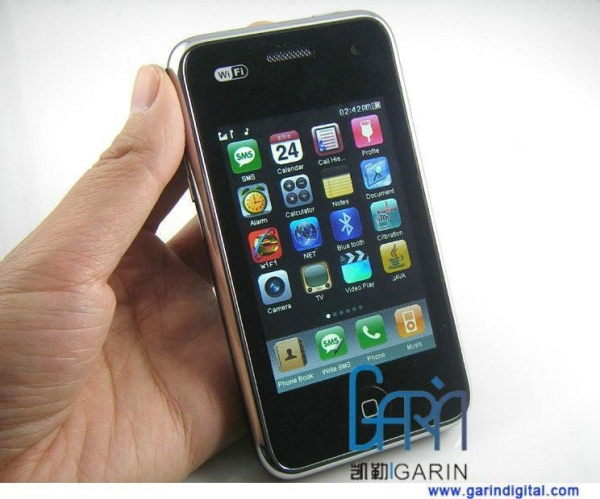 China Free shipping iphone 3GS style A808 Quad band Mobile Phone with WiFi TV Java