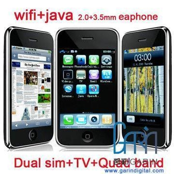 China iPhone style Fly-ying F003 Dual Sim Quad Band Mobile Phone with Wifi TV JAVA