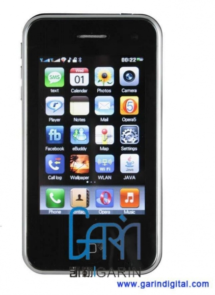 China 3.5 inch 3GS 32GB style Ciphone W598 Quad band mobile phone with WIFI TV JAVA