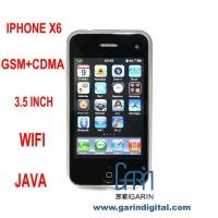 Quality iPhone X6 3.5 Inch Screen Dual Mode GSM CDMA mobile Phone with WIFI Java for sale
