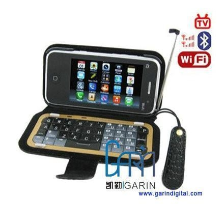 China iPhone M011 32GB Quad band WIFI Java Analog TV Qwerty mobile phone eBuddy Map