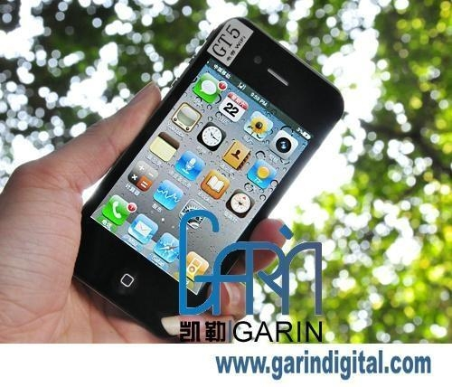 China iPhone 4 Copy 3.5 inch GT5 MINI SIM 9.3MM version Multi touch Capacitive screen