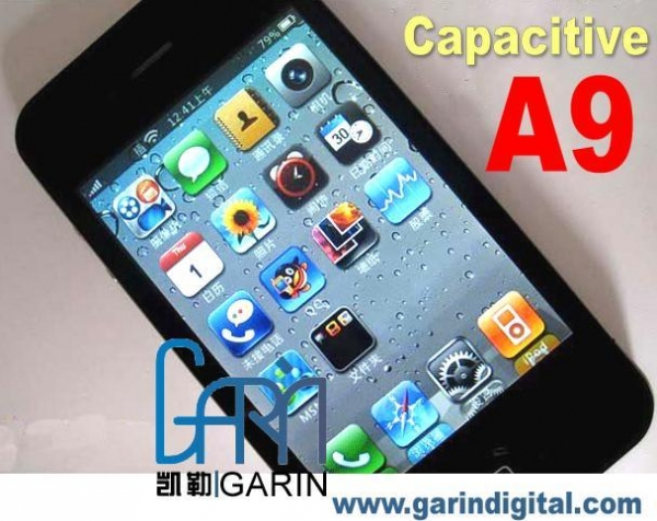 China 3.5 inch Capacitive iPhone 4 A9 WIFI Multi-touch Magic voice JAVA built in 4GB