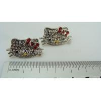 China Hello kitty earrings+hot selling jewelry on sale