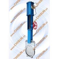 Quality pneumatic with hand wheel kinfe gate valve for sale
