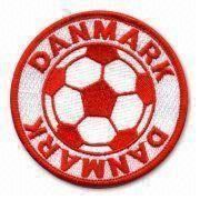 China RK00190 Embroidered Football Team Patch, Suitable for Children's and Teenagers on sale