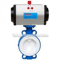 Quality Pneumatic Wafer Fluorine Lined Butterfly Valve for sale