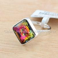 China Sterling Silver fashion Jewelry Crystal Rings on sale