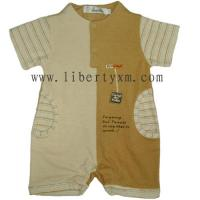 China Bamboo baby clothes Baby jersy with terry romper on sale
