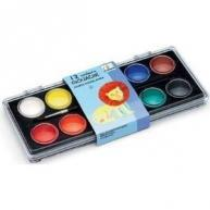 China Djeco 12 Classic Pastel Paints And Brush on sale