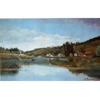 Impressionist(3830) The_Banks_of_the_Marne_at_Chennevieres