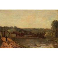 Quality Impressionist(3830) The_Banks_of_the_Seine_at_Bougival for sale