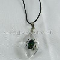 China Necklaces wholesale china fashion Costume Necklace---Crystal Amber Necklace----Insect Ramdon on sale