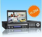 Quality StandaloneDVR… H.264 4ch 100fps/120fps Standalone DVR with 7 inch LED screen for sale