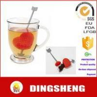 China New arrival silicone heart shaped tea infuser on sale