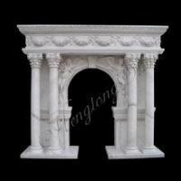 Quality Good Quality Column Marble Fireplace Mantel Shelf Hot Sale for sale