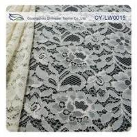 Quality Nylon Viscose Corded Lace Fabric For Clothing 145CM - 150 CM Width CY-LW0015 for sale