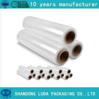 Quality Film blue lldpe transparent shrink wrap pallet thickness stretch film for sale