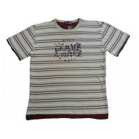 China MEN'S ROUND-NECK T SHIRT WITH STRIPE on sale