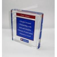 Quality New arrive square acrylic sign block ,acrylic paperweight for sale