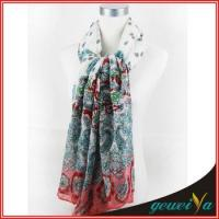 Quality Flower Butterfly Printing Lady Shawl Scarf for sale