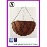 Quality Wire hanging bakset with coco liner Garden pots for sale planting pot cheap plant pot BH090006 for sale