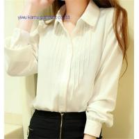 Quality 2014 new fashion ladies pleated chiffon shirts blouse woman top for sale