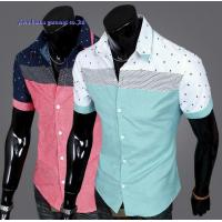 Buy cheap KM-560 Fashion new design contrast shirts for man man casual short sleeve shirts from wholesalers