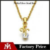 Quality Factory direct stainless steel gold pendant exquisite diamond charm necklace jewelry for women for sale