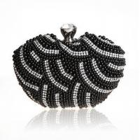 Buy cheap 2016 new sweet heart bling bling black diamond clutch bags for women from wholesalers