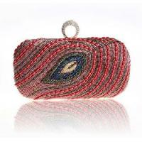 Buy cheap 2014 new red hand beads lady cosmetic bag women pu makeup bag from wholesalers
