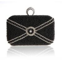 Buy cheap 2014 new black beaded lady hand bag diamond ring buckle designer bag from wholesalers