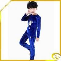 Quality Cotton Material Long Sleeve Black Blue Practice Performance Wear Boy for sale