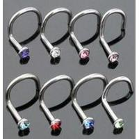 China Body piercing ring Medial titanium steel Body piercing nasal nose nail screws earring on sale