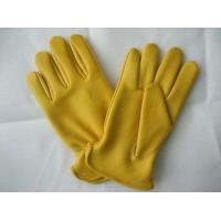 Quality Premium Yelllow Grain Leather Working Deer Glove For General Work To Protect Hands Safety for sale