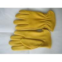 Quality Premium Yelllow Grain Leather Working Deer Glove To Protect Hands Safety for sale